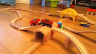 Awesome Wooden Train Track Layout