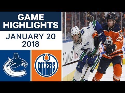 NHL Game Highlights | Canucks vs. Oilers —Jan. 20, 2018