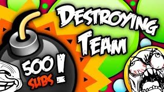 Agar.io 500 Subs Special | Destroying Team!