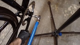 How To Install Square Taper Bicycle Crank Bike Blogger Video