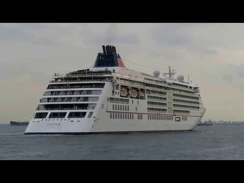 Europa 2 Sail Away From Singapore 8 Feb 2018 with Horn