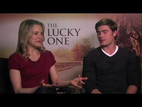 Lucky One Junket Zac Efron And Taylor Schilling Interview Daily