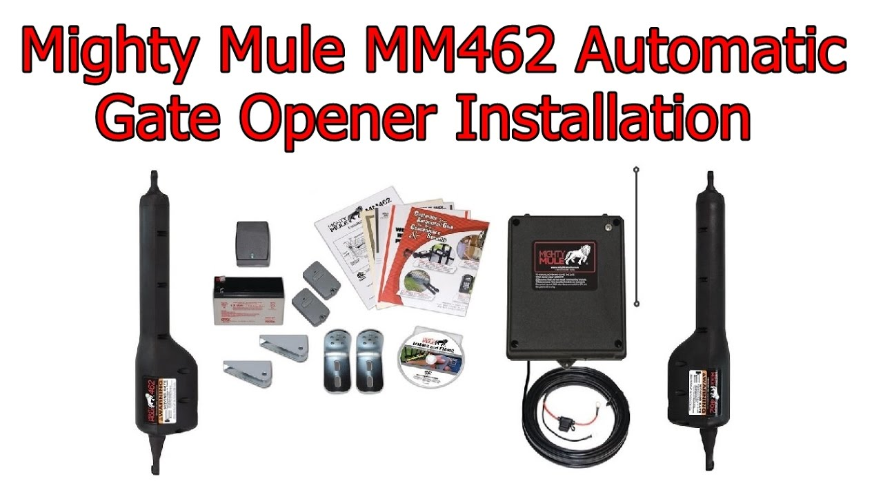 mighty mule mm462 automatic gate opener