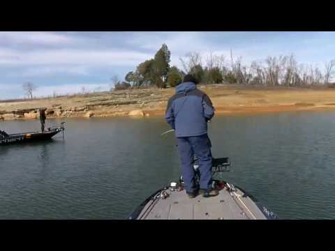 Jesse Wiggins lets Matt Lee in on Cherokee Lake fishing hole