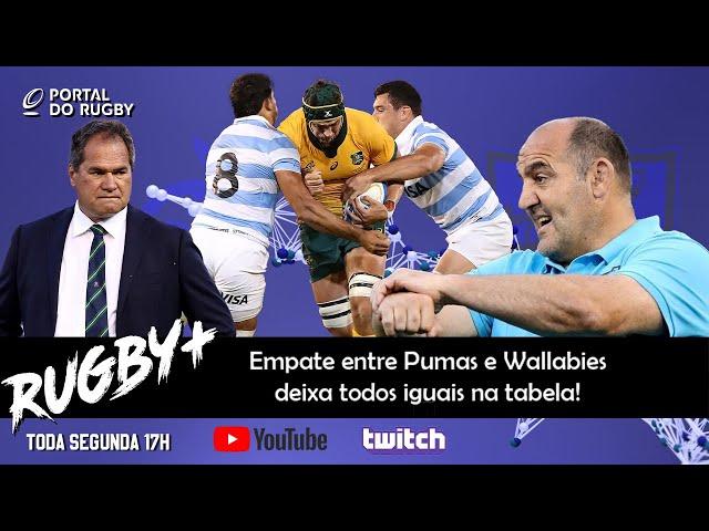 Rugby+: Tudo igual entre Pumas, Wallabies e All Blacks no Tri Nations!