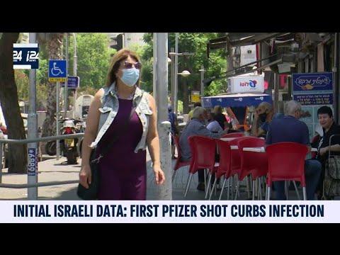 Israeli Data Shows First Pfizer Shot Curbs Infection