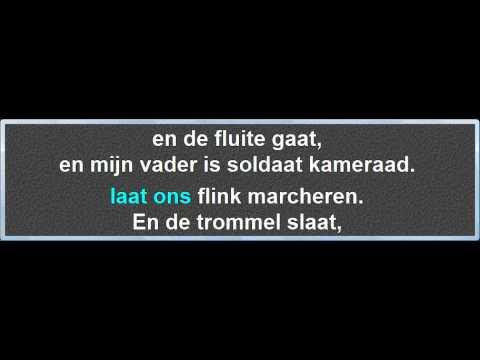 Klein Soldaatje Groot Soldaatje, instrumentaal met karaoke tekst