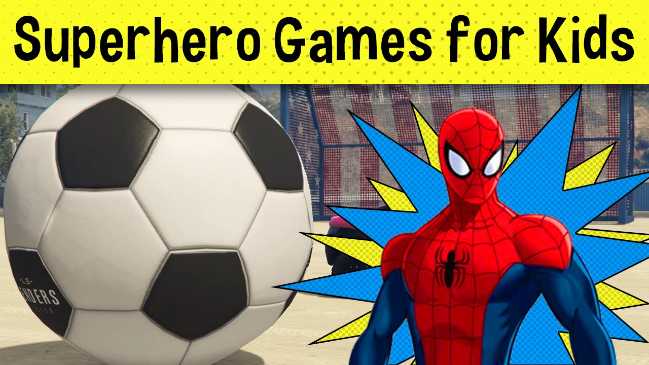 Uncategorized Spiderman Games For Kids cartoon soccer games with spiderman video game for kids and more more