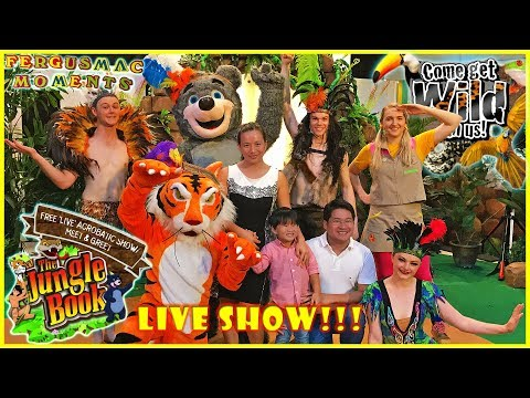 The Jungle Book Free Live Show with Mowgli and Friends Meet and Greet United Square Singapore Full