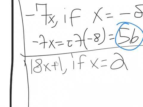 Grade 8: Substituting Values Problems