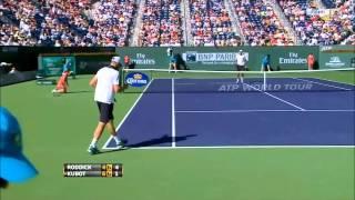 Andy Roddick Vs Lukasz Kubot 2nd Round Indian Wells 2012