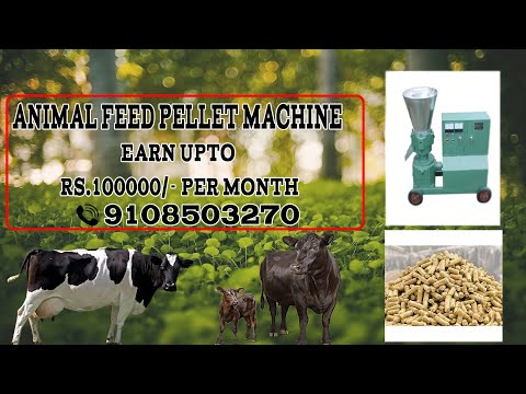 Cattle feed business-How To earn upto Rs.100000/- per month Animal feed pellet: 9848905936