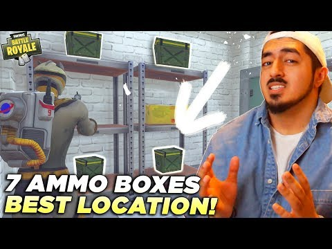 BEST LOCATION TO SEARCH 7 AMMO BOXES IN A SINGLE MATCH in Fortnite Battle Royale! (Week 4 Challenge)