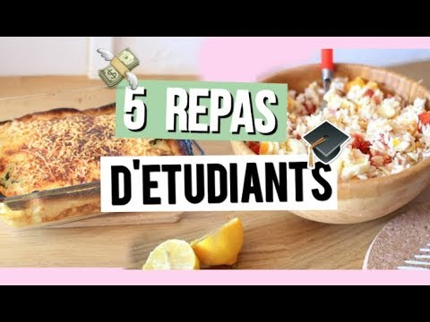 5 Idees De Repas D Etudiants Facile Rapide Bon Youtube