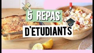 5 IDÉES DE REPAS D'ÉTUDIANTS | Facile, Rapide & Bon!