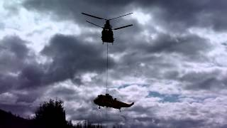 CHINOOK RESCUES SEA KING (RESCUE 137)