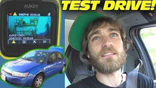 1st TEST DRIVE w/ 200lbs Subwoofers & EXO's AUKEY DASH CAMERA REVIEW