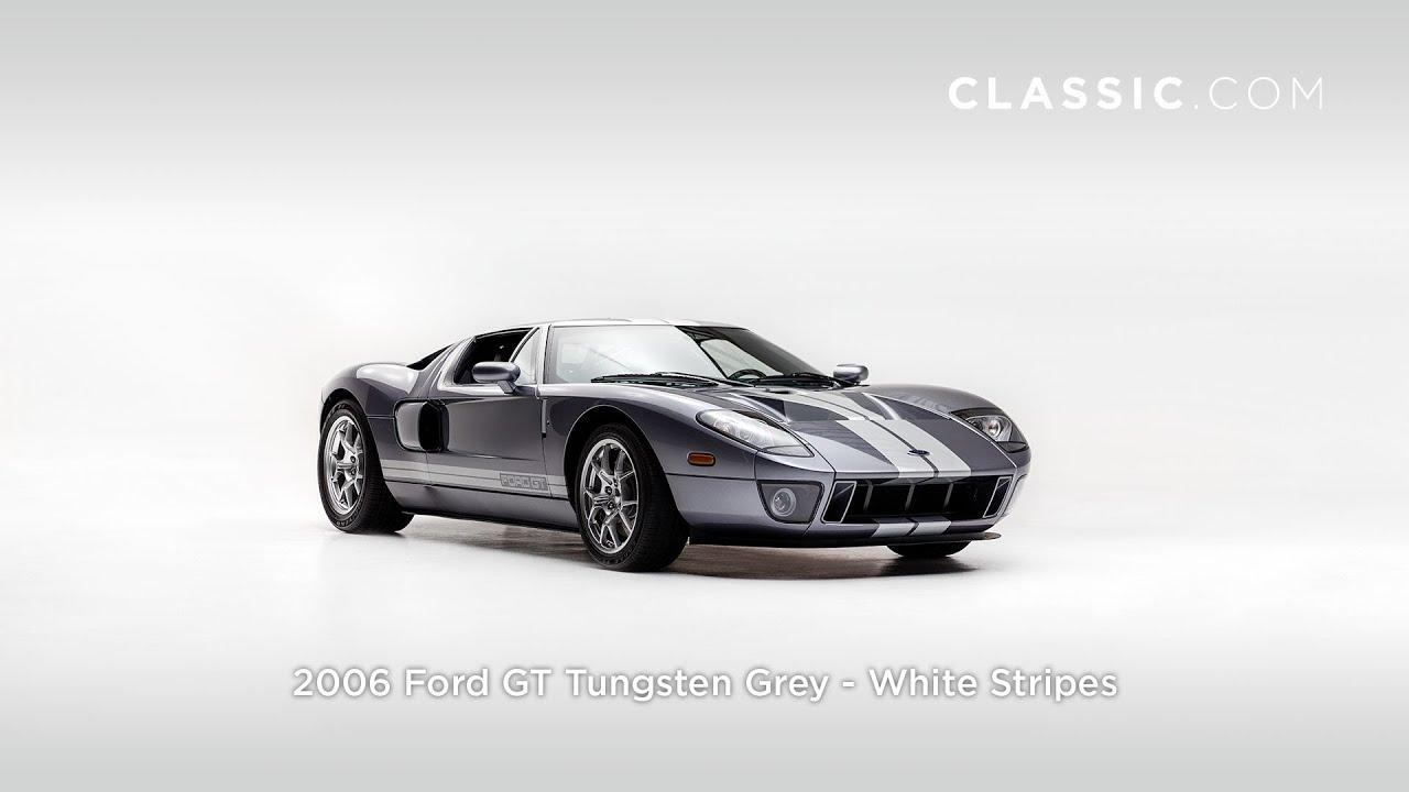 Ford Gt Tungsten Grey White Stripes Fhd