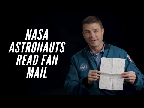 NASA Astronauts Read Fan Mail