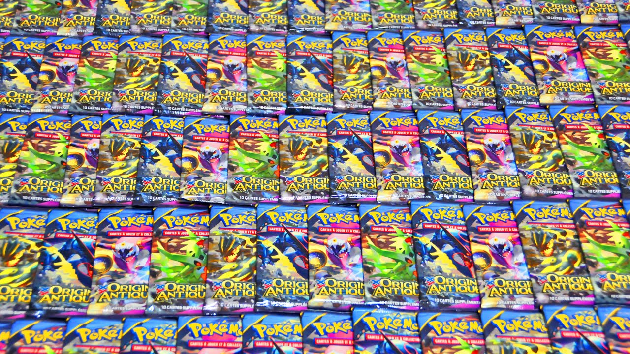 Mega ouverture de 100 boosters pok mon xy origines antiques epic carte pokemon full art - Tout les carte pokemon ex du monde ...