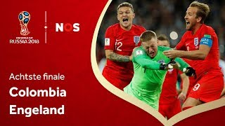 WK Voetbal 2018: Samenvatting Colombia - Engeland (1-1)
