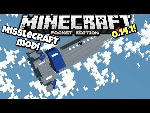 [0.14.1] Minecraft PE - NUKE YOUR WHOLE MINECRAFT WORLD!!!! - MissileCraft Mod Showcase