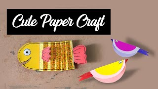 How to make paper Fish & Bird | 2020 | DIY | For Kids | Step by Step | Paper Folding **NEW IDEAS**