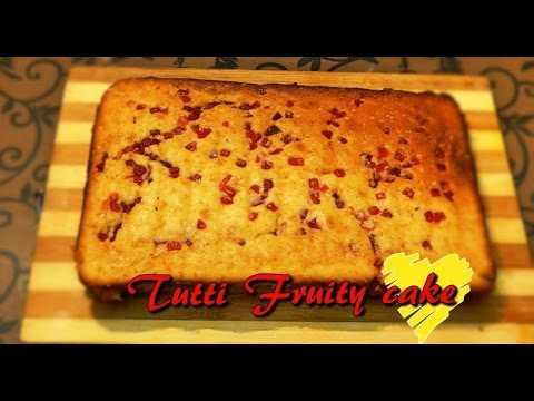 Eggless Tutti Frutti Cake With Condensed Milk