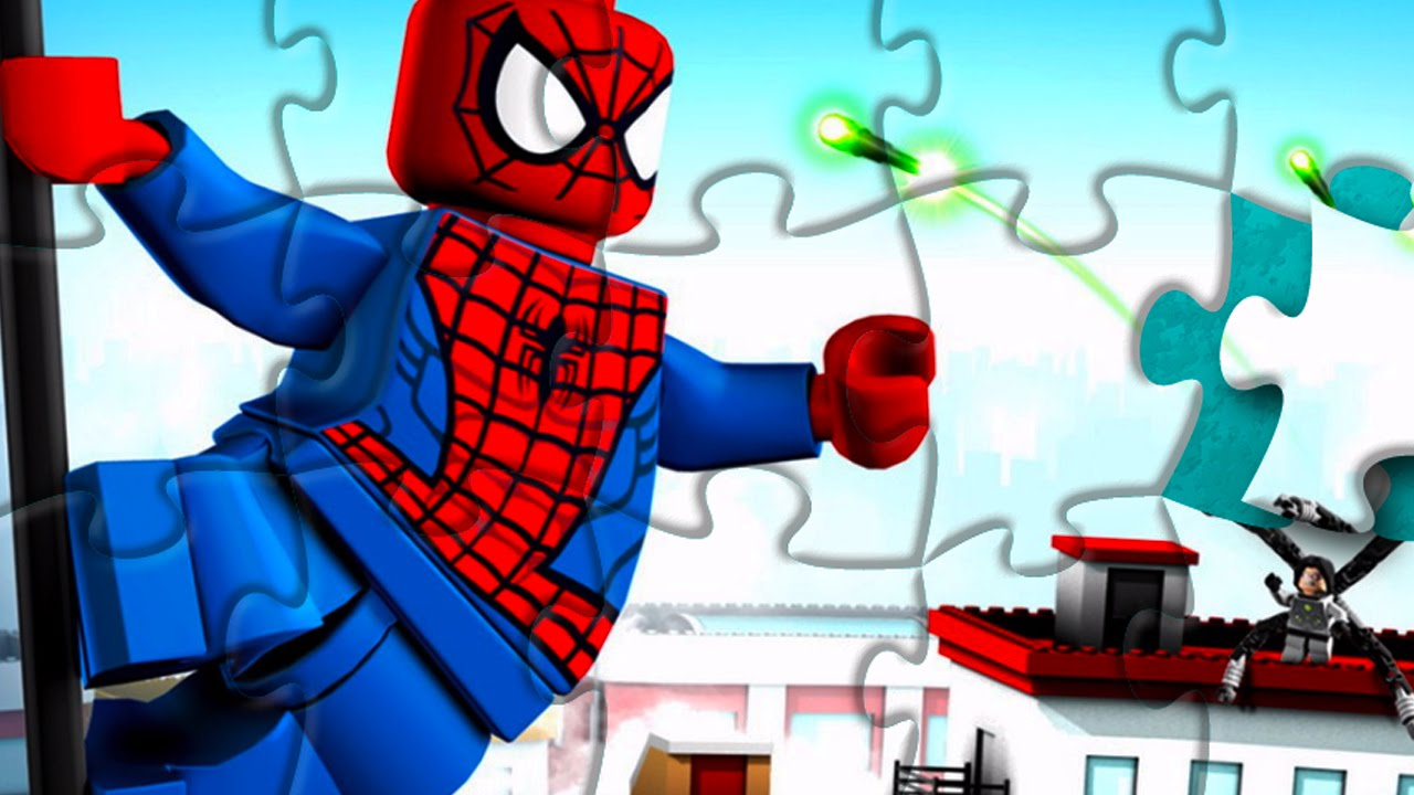 rompecabeza hombre ara u00d1a  puzzle games spiderman lego