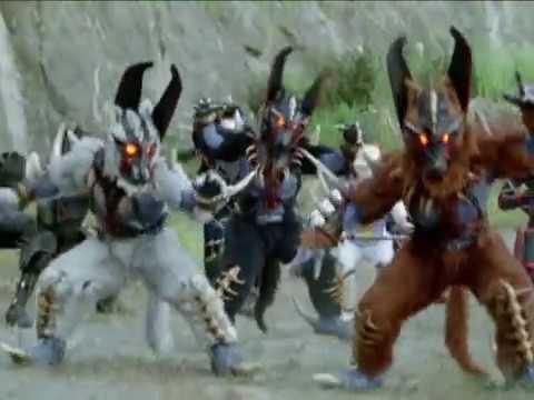 Power Rangers Dino Thunder and Ninja Storm Team Up Morph and Battle (Thunder Storm Episode)