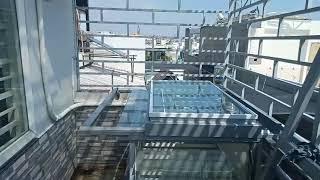 Lắp đặt giếng trời mái mở 75% - Gò vấp