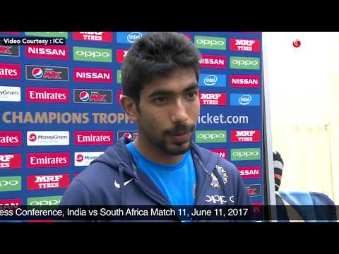 Jasprit Bumrah - Post Match Press Conference, India vs South Africa Match 11, June 11, 2017