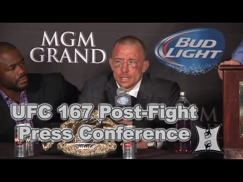 [Video] The infamous UFC 167 Post-Fight press conference. Featuring Dana White shitting on GSP and a very emotional George explaining his reasoning for wanting to take some time away from the sport.