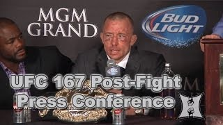 UFC 167: St-Pierre vs Hendricks Post-Fight Press Conference (LIVE! / complete + unedited)