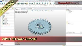 ZW3D Design 3D Gear Basic Modeling Tutorial For Beginner