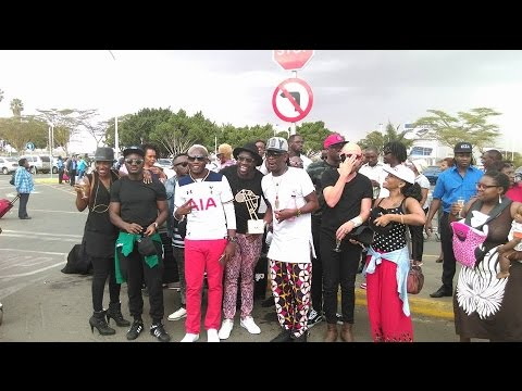 SAUTI SOL ARRIVES BACK IN NAIROBI FROM SOUTH AFRICA - (BEST GROUP) MTV MAMA 2016
