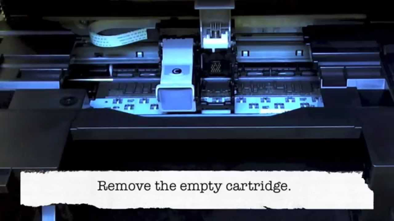 Canon Mx410 Changing The Cartridges Youtube