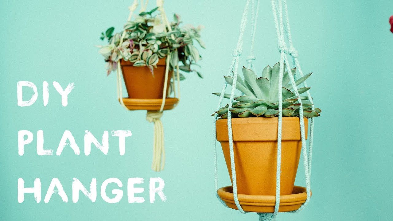 Diy Plant Hanger Youtube