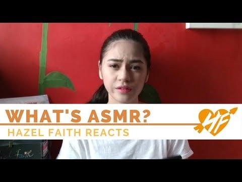 My First ASMR Experience    Hazel Faith Reacts