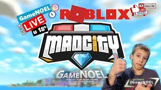 Roblox playing Mad City [LIVE] | GameNOEL LIVE