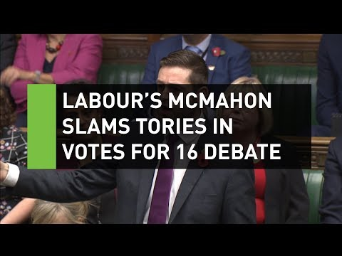 Jim McMahon slams Tories for blocking 16 & 17 year old votes