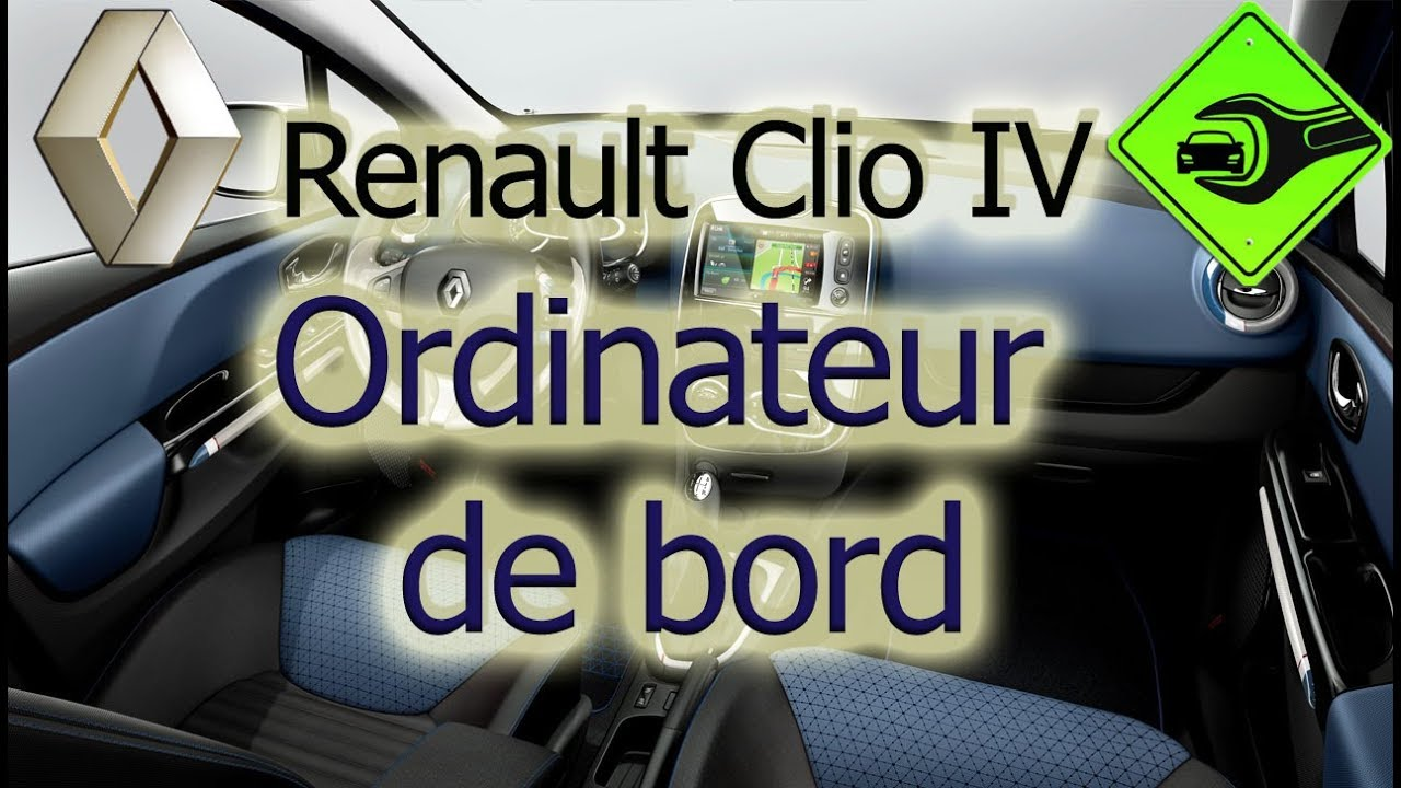 renault clio iv ordinateur de bord youtube. Black Bedroom Furniture Sets. Home Design Ideas