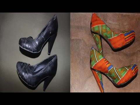 How To Revamp Shoes With Fabric