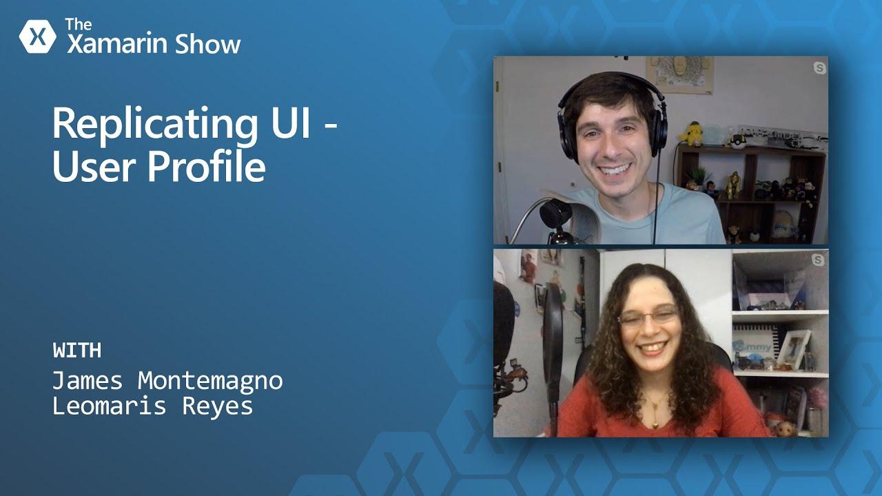 Replicating User Profile UI