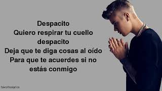 Gambar cover Justin Bieber Despacito Lyrics ft Luis Fonsi Daddy Yankee