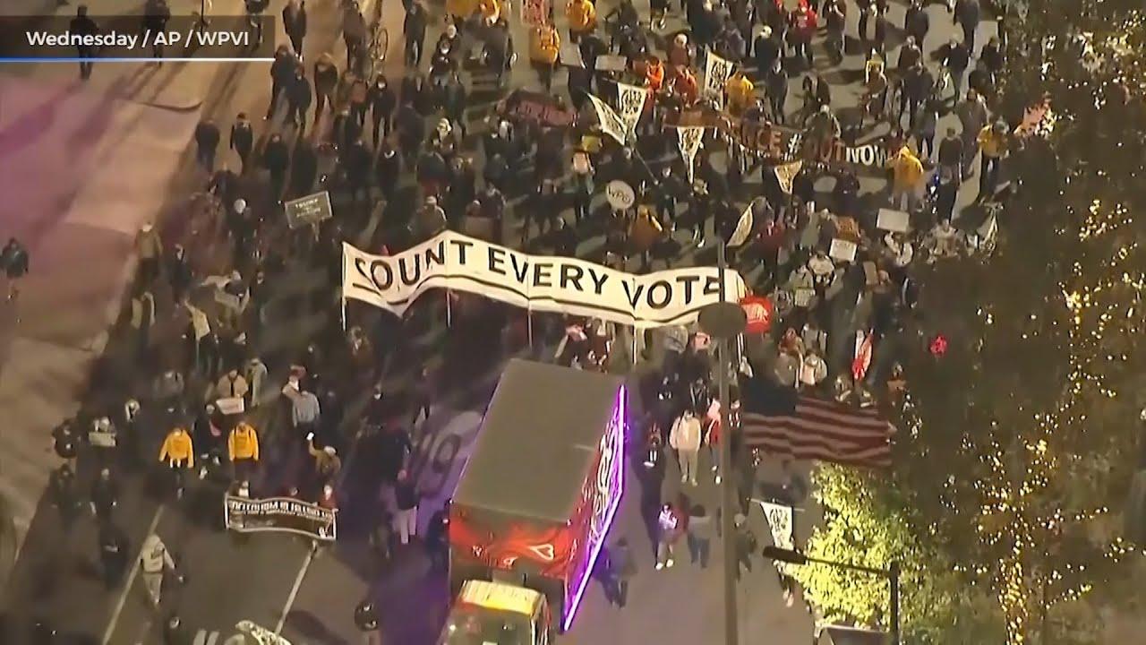 Biden leads in electoral votes, Trump files voter fraud suit