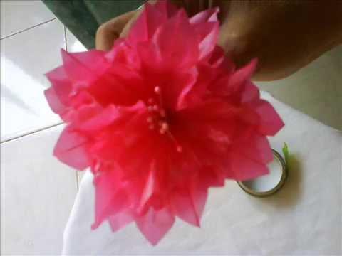 Memanfaatkan barang bekas - Bunga dahlia dari plastik - YouTube f2ea5ace53