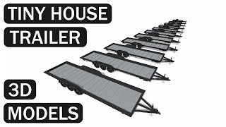 Iron Eagle Tiny House Trailers In Sketchup
