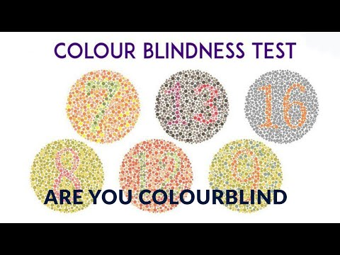 Colour blindness test- test for colour blind-ishihara test-Satyendra Mishra