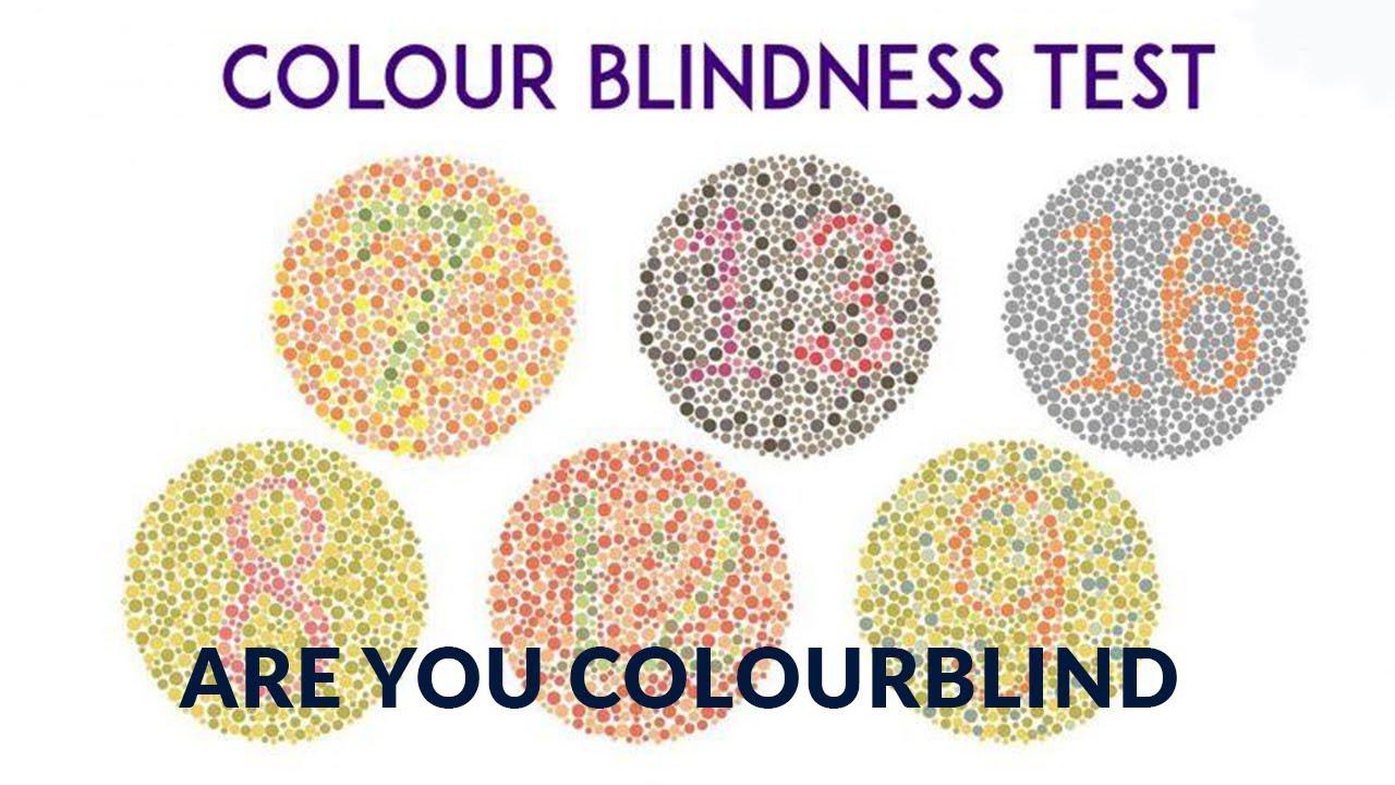 Color Blindness Test- Test For Color Blind-ishihara Test